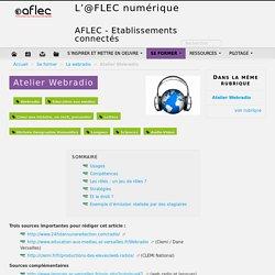 Atelier Webradio - L'@FLEC numérique
