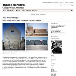 AZL Atelier Zhanglei - Nanjing - Architects