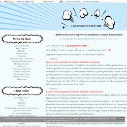 Ateliers de lecture: repérer les anaphores, repérer les substituts - Une année en CM1 CM2