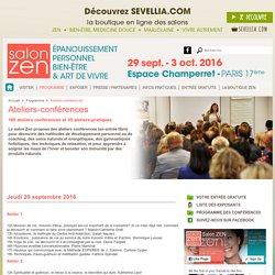 Salon Zen: programme des ateliers