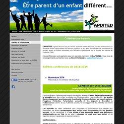 Ateliers et conférences - Site de apdited1 !