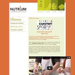 Ateliers de cuisine - Nutrium