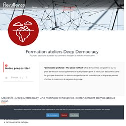 Ateliers Deep Democracy-resultence-coaching