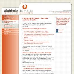 Ateliers d'écriture créative, Alchimie du Verbe, Lausanne, Genève, Romandie – Choisir un atelier