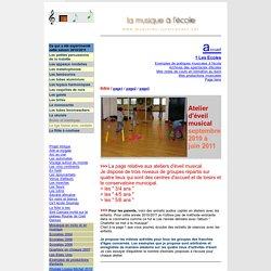 Les ateliers d'éveil MUSICAL année 2010 / 2011