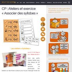 CP : Ateliers et exercice «Associer des syllabes»