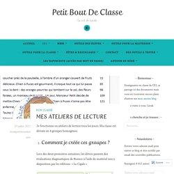 MES ATELIERS DE LECTURE – Petit Bout De Classe