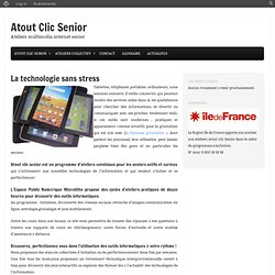 Ateliers multimédia internet senior