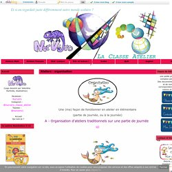 Ateliers - organisation - La Classe Atelier