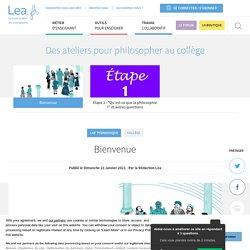 Des ateliers pour philosopher au collège