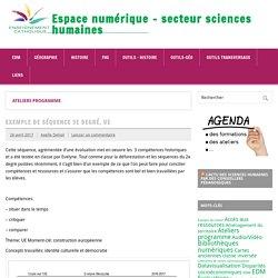 Espace numérique - secteur sciences humaines