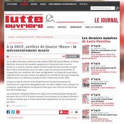 À la SNCF, ateliers de Quatre-Mares : le mécontentement monte
