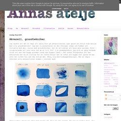 Annas Ateljé - våga måla: Akvarell, grundtekniker