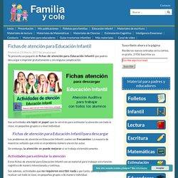Fichas de atención para Educación Infantil