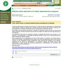 Noticias del sector de las residencias geriátricas, centros de día y servicios de atención domiciliaria