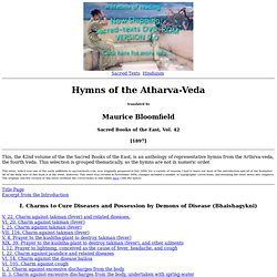 Atharva Veda Index
