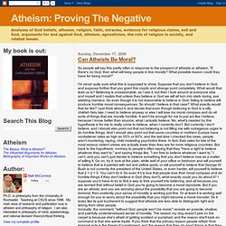 Atheism: Proving The Negative: Can Atheists Be Moral?