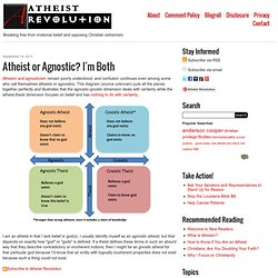 Atheist or Agnostic? I'm Both