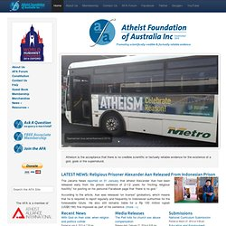 Atheist Foundation of Australia Inc | Founded 1970