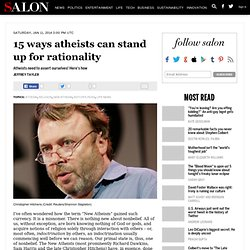 15 ways atheists can stand up for rationality