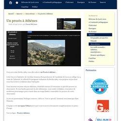 Un procès à Athènes - CAN@BAE Histoire-Géographie