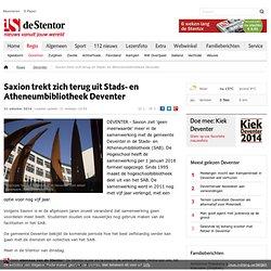 Saxion trekt zich terug uit Stads- en Atheneumbibliotheek Deventer