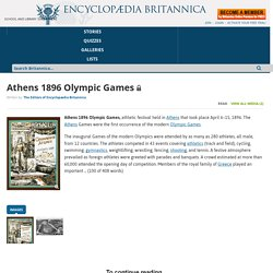 Athens 1896 Olympic Games