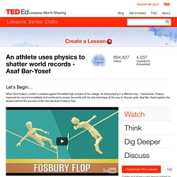 An athlete uses physics to shatter world records - Asaf Bar-Yosef