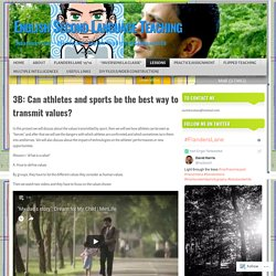 3B: Can athletes and sports be the best way to transmit values?
