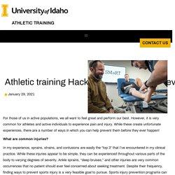 Athletic training Hacks for sports Injury prevention