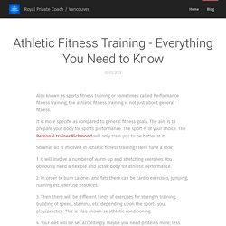 Athletic Fitness Training - Everything You Need to Know