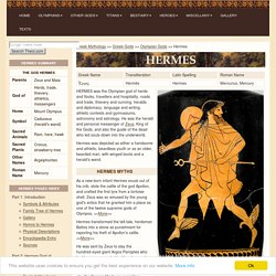 HERMES : Greek God of Herds, Trade & Athletics, Herald of the Gods