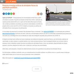 Pesquisa investiga práticas de atividades físicas da população paulistana