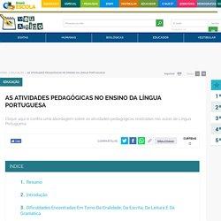 As atividades pedagógicas no ensino da Língua Portuguesa - Brasil Escola