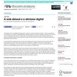 A web abissal e o ativismo digital