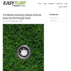 4 Issues Solved by Atlanta Artificial Grass for Pet-Friendly Lawns