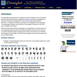 Atlantean alphabet