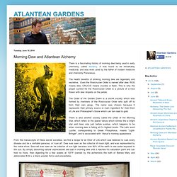 ATLANTEAN GARDENS: Morning Dew and Atlantean Alchemy
