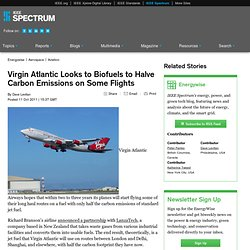 Virgin Atlantic Looks to Biofuels to Halve Carbon Emissions on Some Flights