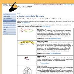 Atlantic Canada Solar Directory