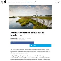 Atlantic coastline sinks as sea levels rise
