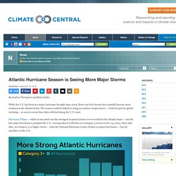 Atlantic Hurricane Season is Seeing More Major Storms