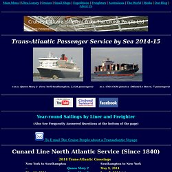 The Cruise People Ltd [Trans-Atlantic Passenger Ship Service]