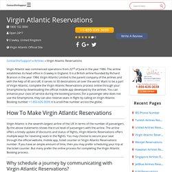 Virgin Atlantic Reservations +1-855-635-3039 Booking Number