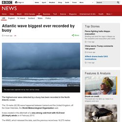 Atlantic wave biggest ever recorded by buoy