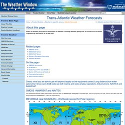 Trans-Atlantic Weather Forecasts/ Franks-Weather