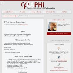 Antoine Grandjean - Centre Atlantique de Philosophie