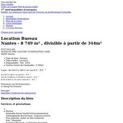 Location Bureau Nantes (Loire-Atlantique 44) 8749 m² – Référence N° 14110223L