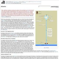 Atlantis - Greek Mythology Link