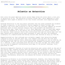 Atlantis as Antarctica